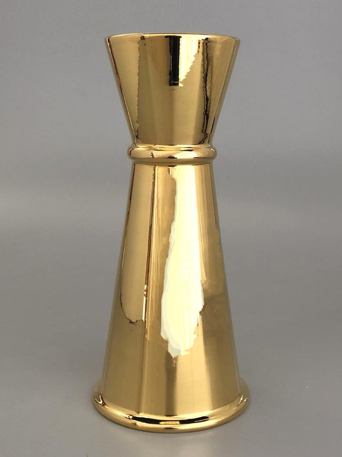 Jigger in ceramica oro tornito a mano