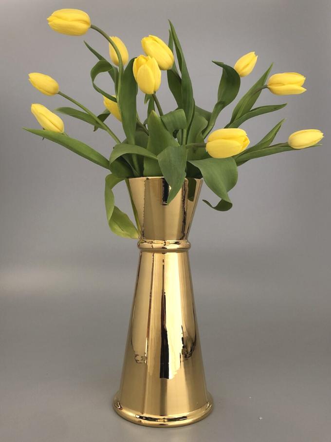Jigger in ceramica oro tornito a mano vaso da fiori