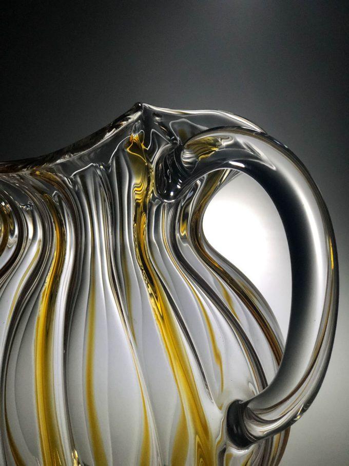 Caraffa Veneziana in vetro soffiato
