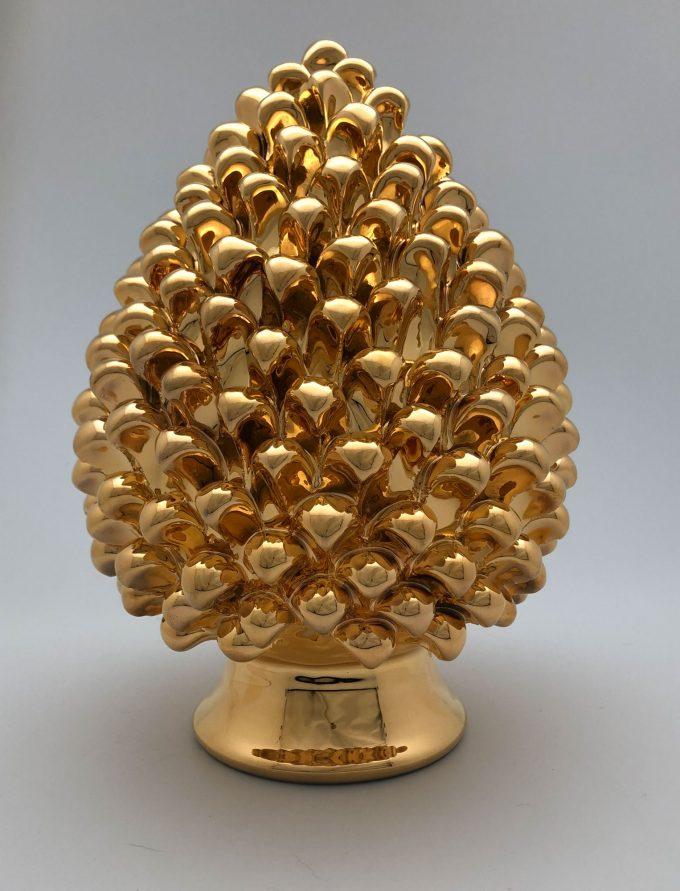 Pigna in Ceramica Oro Dono Beneaugurante