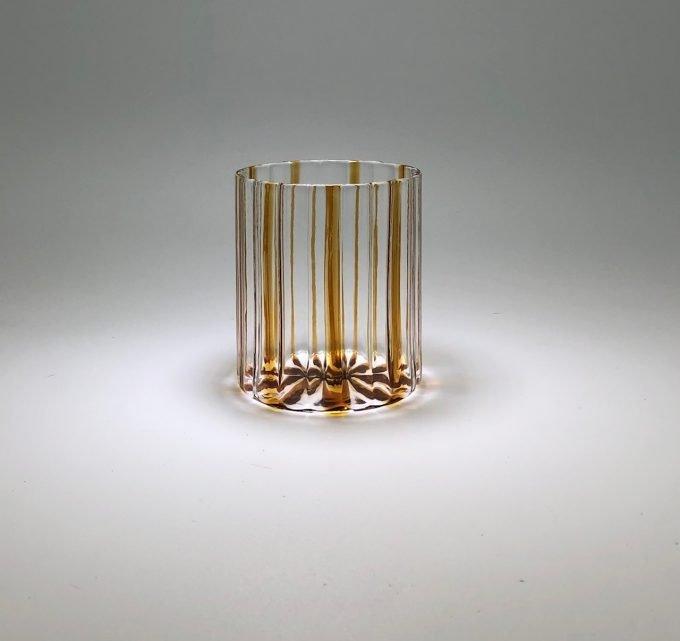 Bicchiere artigianale in vetro soffiato