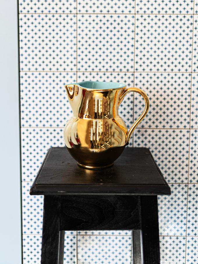 Brocca veneta in ceramica oro Alpes Inox Negozio in centro a bassano del grappa