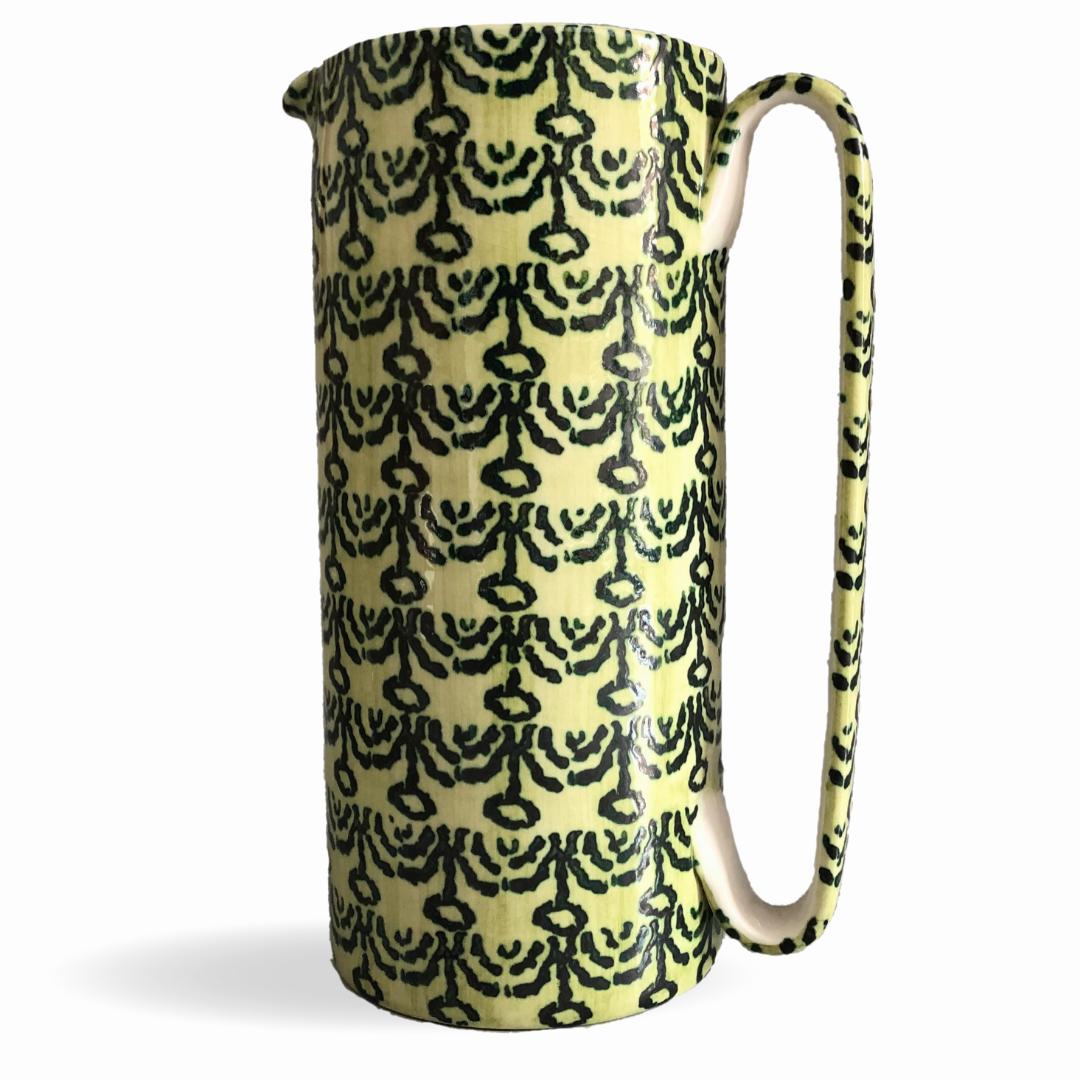 Serlio in ceramica spugnata motivo candelabri