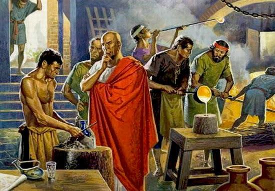 Il vetro soffiato romano
