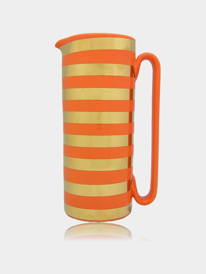 """Caraffa in Ceramica Oro e Arancio """"Serlio"""" Funky Edition"""